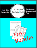 **Editable** Exit Slip: Curriculum Assessment Tool