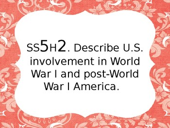 [Editable] GSE Social Studies Standards 5th grade