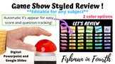 *Editable* Game Show Styled Review Game!