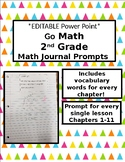 *Editable* Go Math Journal Prompts (Chapters 1-11) for 2nd Grade