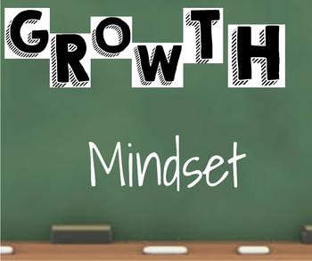 *Editable* Growth Mindset Poster
