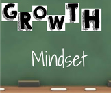 *Editable* Growth Mindset Poster