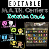 *Editable* Guided Math Centers Rotation Board  (M.A.T.H. Acronym)
