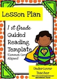 {Editable} Guided Reading Lesson Plan Template - 1st Gr. (