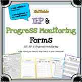 IEP and Progress Monitoring Forms - Special Education Form