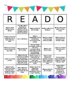 *Editable* Independent Reading BINGO (READO)