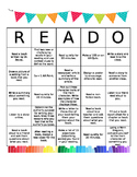 *Editable* Independent Reading BINGO (READO)