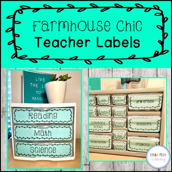 *Editable & Ink Friendly* Farmhouse Teacher Label Bundle