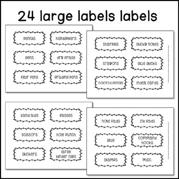 *Editable & Ink Friendly* Farmhouse Teacher Toolbox Labels