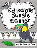 **Editable Jungle Banner**