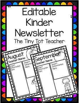 {Editable} Kinder Newsletter