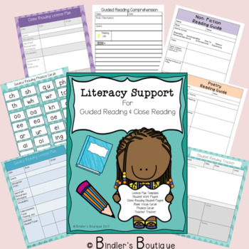 {Editable} Literacy Support for Guided Reading and Close Reading