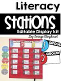 **Editable** Literacy Workstation Display Kit