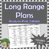 *Editable* Long Range Plans Gr.1&2 Ontario Curriculum –ALL SUBJECTS, FI Included