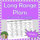 *Editable* Long Range Plans Gr.1 Ontario Curriculum – ALL SUBJECTS, FI Included