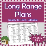 *Editable* Long Range Plans Gr.2-3 Ontario Curriculum –ALL SUBJECTS, FI Included