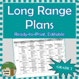 *Editable* Long Range Plans Gr.2 Ontario Curriculum – ALL SUBJECTS, FI Included