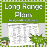 *Editable* Long Range Plans Gr.3&4 Ontario Curriculum –ALL SUBJECTS, FI Included