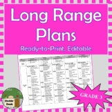 *Editable* Long Range Plans Gr.3 Ontario Curriculum – ALL SUBJECTS, FI Included