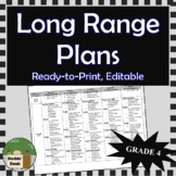 *Editable* Long Range Plans Gr.4 Ontario Curriculum – ALL SUBJECTS, FI included