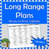*Editable* Long Range Plans Gr.5 Ontario Curriculum – ALL SUBJECTS, FI Included