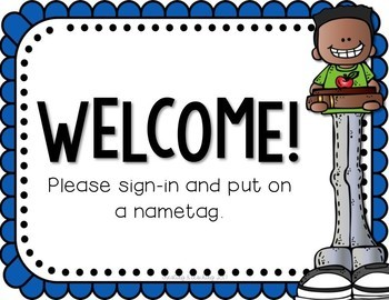 {Editable} Meet the Teacher Classroom Signs