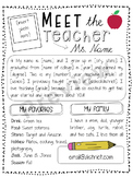 *Editable* Meet the Teacher Letter (FREE!)