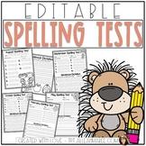 Spelling Test Paper {Editable}