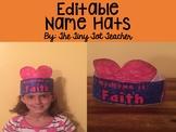 {Editable} Name Hats