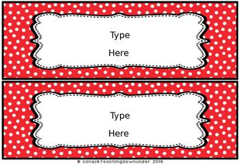 *Editable* Name Tags 'Bright Dots' Classroom Theme