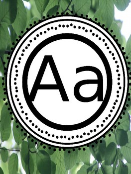 **Editable** Nature Alphabet Line