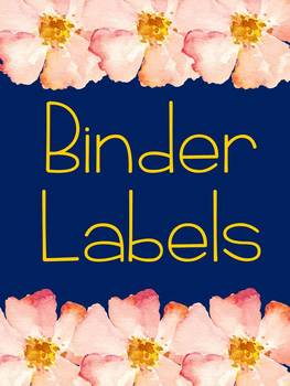 *Editable* Navy Classroom Organization Labels