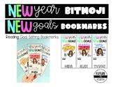 *Editable* New Year READING Goal Setting Bitmoji Bookmark