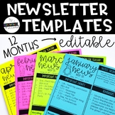 *Editable* Newsletter Templates - Monthly & Weekly Options!