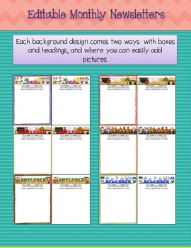 *Editable Monthly Newsletters*- easily add pictures!