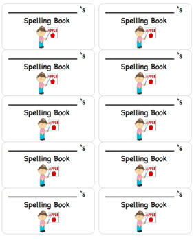 **Editable** Notebook Labels