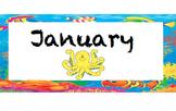 {Editable} Ocean Calendar Months