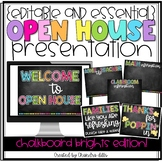 {Editable} Open House Presentation Essentials- Chalkboard Brights Edition