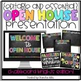 {Editable} Open House Presentation Essentials- Chalkboard