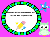 {Editable} Outstanding Classroom and End of Year Awards an