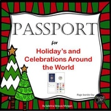 (Editable) PASSPORT for Holiday's Around the World