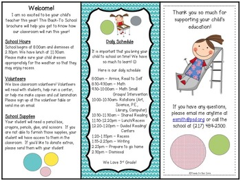 ~Editable PDFs~ Notes for Parents-Brochures, Conferences, Field Trips, and More!