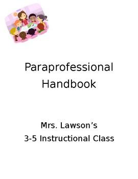 **Editable** Paraprofessional Handbook