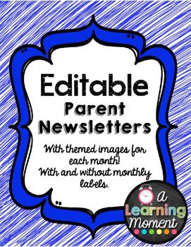 {Editable} Parent Newsletter