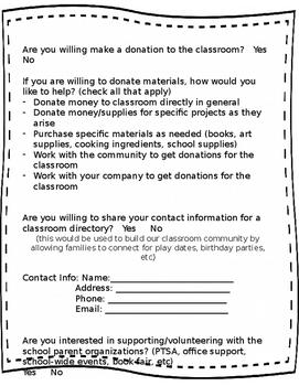 {Editable} Parent Participation Packet