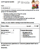 {Editable} Parent Note: Progress Update for LLI groups
