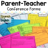 (Editable) Parent Teacher Conference Forms | In English & Spanish