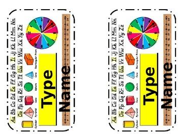 """Editable"" Pencil Box Name Plate Tag"