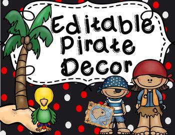 **Editable Pirate Decor Bundle**