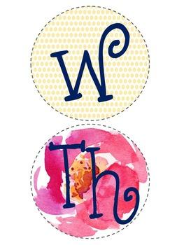 *Editable* Polka Dot Flower Binder Labels